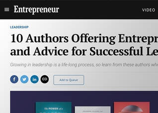 10 Authors Offering Entrepreneurs Insight and Advice for Successful Leadership-1