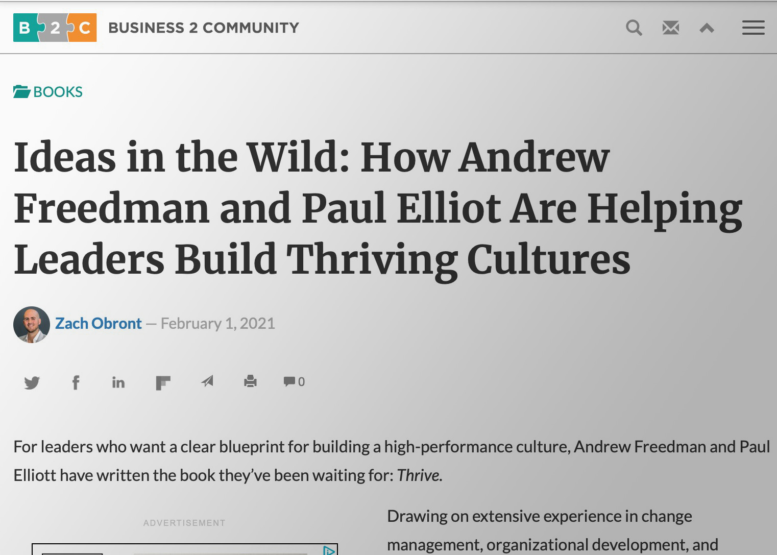 Ideas in the Wild Article