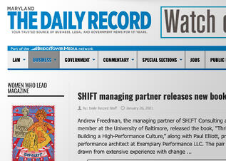 The Daily Record - SHIFT Releases a new book